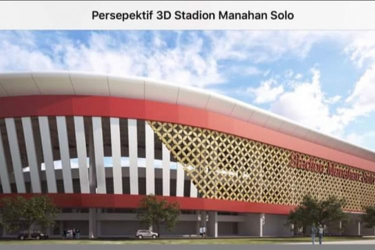 Rendering Stadion Manahan Solo