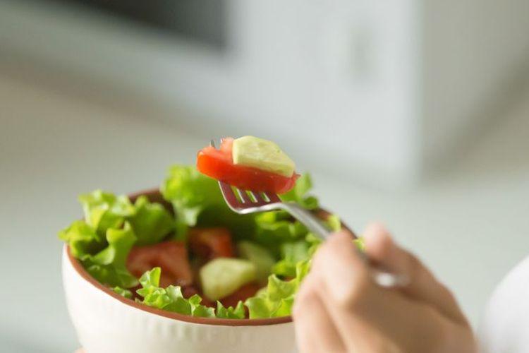Ilustrasi diet vegan.