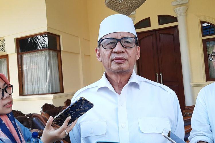 Gubernur Banten Wahidin Halim saat ditemui di rumah dinasnya di Jalan Ahmad Yani, Kota Serang, Jumat (13/3/2020).
