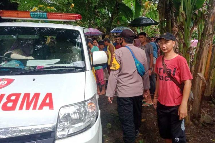 Seorang warga Kampung pendeuy, Desa Tamanjaya, Kecamatan Sumur, Kabupaten Pandeglang, Banten diterkam buaya saat tengah mencari kerang, Kamis (11/2/2021).