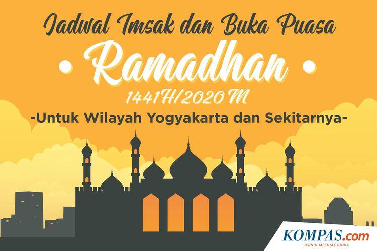 Jadwal Imsak dan Buka Puasa Ramadhan 1441 H/2020 M untuk Wilayah Yogyakarta dan Sekitarnya