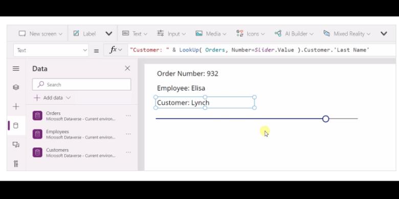 Ilustrasi bahasa pemrograman baru Microsoft, PowerFx, berbasis Microsoft Excel.