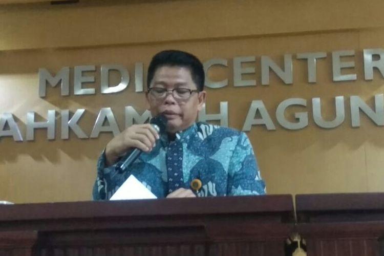 Kepala Biro Hukum dan Humas MA Abdullah di Gedung MA pada Selasa (9/7/2019)