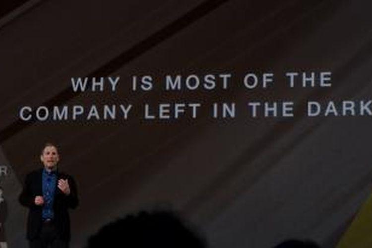 Senior VP AWS Andy Jassy sebagai pembicara pada keynote AWS Re:Invent 2015 di Hotel Venetian, Las Vegas, Amerika Serikat