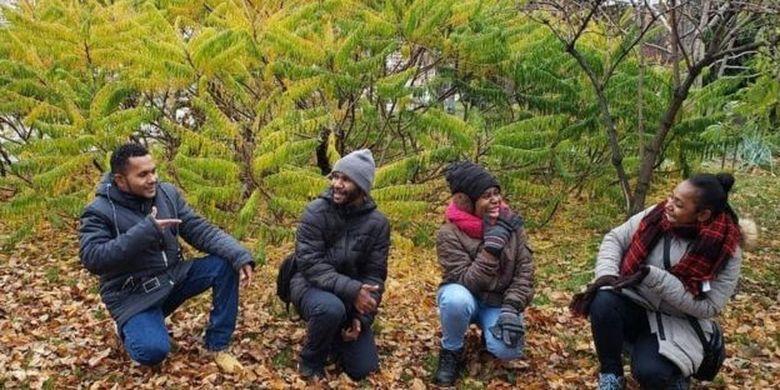 Pemuda Papua yang mendapatkan beasiswa di Moskow.