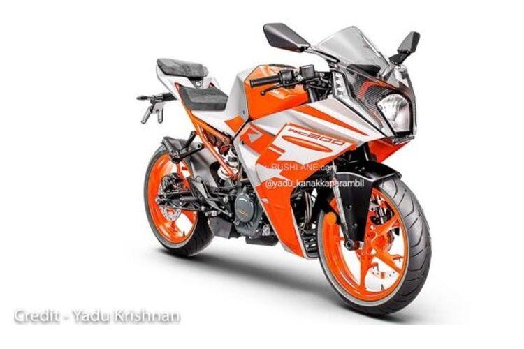 Penampakan KTM RC200 2022 yang bocor