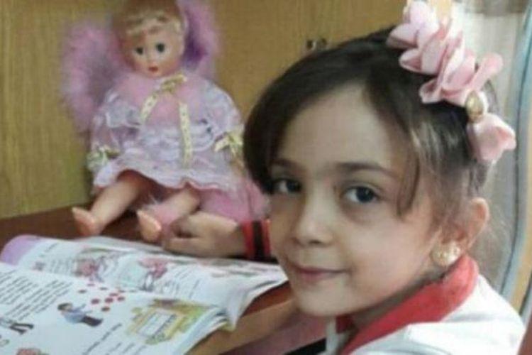 Bana Alabed (7) dalam salah satu foto yang diunggahnya ke Twitter.