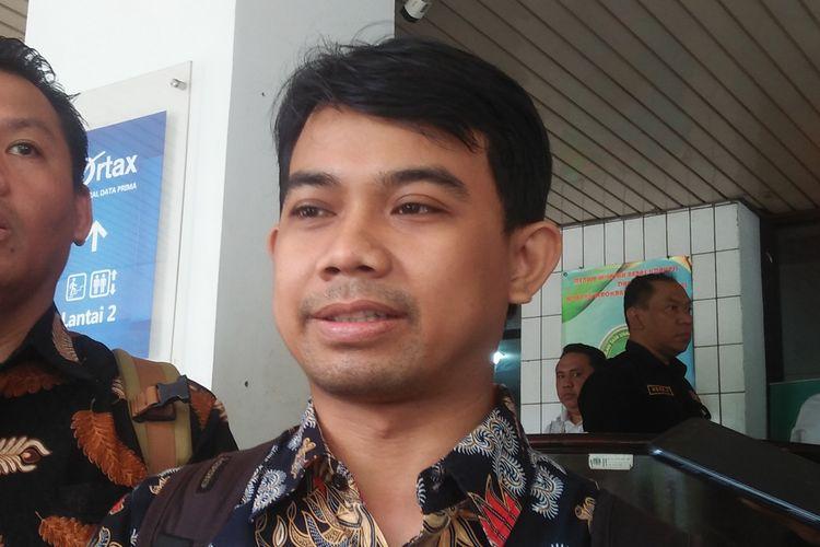 Kuasa Hukum Tim Pembela Kebebasan Pers Ade Wahyudin di Pengadilan Tata Usaha Negara (PTUN), Rawamangun, Jakarta, Rabu (5/2/2020).