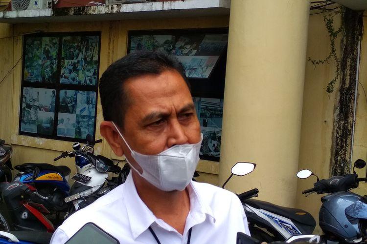 Kasat Reskrim Polrestabes Makassar Kompol Agus Khaerul saat diwawancara di Mapolrestabes Makassar, Senin (14/12/2020).