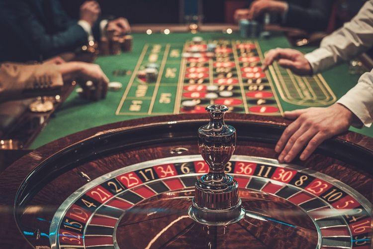 Ilustrasi permainan judi di kasino.