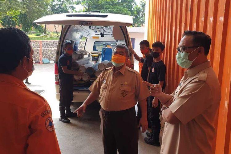 Untuk menjamin pasokan oksigen berjalan lancar, Satgas Penanganan Covid-19 Kabupaten Bogor membentuk pos komando (Posko) ketersediaan oksigen.