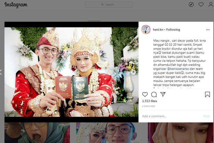 Kisah perkenalan Heni dan Abimanyu viral di media sosial. Mereka hanya tiga kali bertemu dan kenal hanya dari Instagram sebelum akhirnya memutuskan menikah.