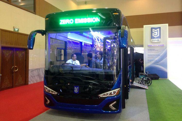 Bus listrik milik PT Mobil Anak Bangsa.