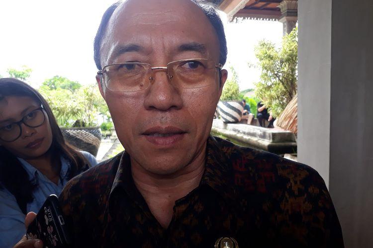 Kepala Dinas Kesehatan Bali, I Ketut Suarjaya di Gedung DPRD Bali, Rabu (4/3/2020).
