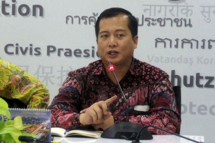 Direktur Perlindungan WNI dan Badan Hukum Indonesia Kementerian Luar Negeri Lalu Muhammad Iqbal