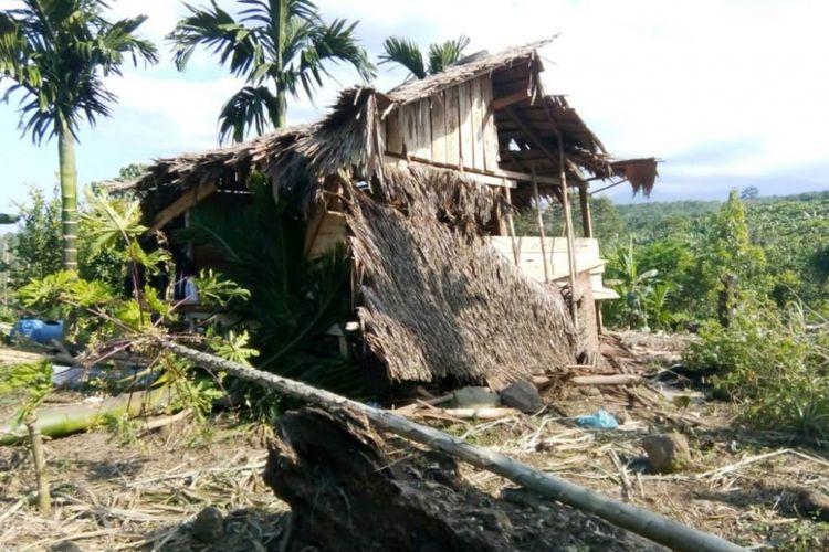 Satu unit rumah dan puluhan hektar tanaman warga di Desa Kilometer 8 SP3, Kecamatan Simpang Kramat, Aceh Utara, dirusak kawanan gajah liar pada Jumat (10/1/2019).