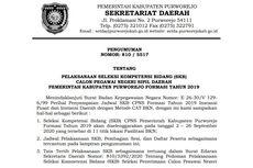 Jadwal, Lokasi dan Ketentuan SKB CPNS 2019 Pemkab Purworejo