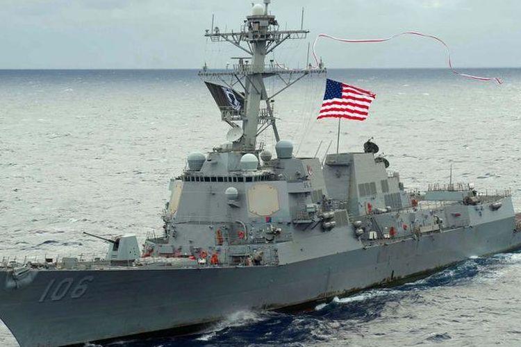 USS Stockdale, kapal perusak berkekuatan rudal pemandu milik Amerika Serikat yang melintasi Selat Taiwan pada pekan ini.