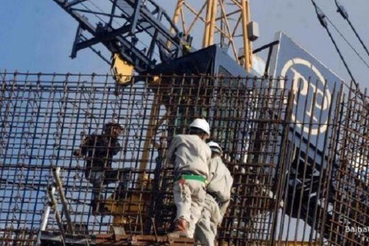 Ilustrasi pembangunan high rise building.