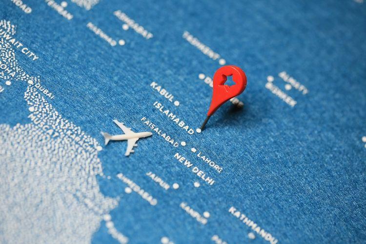 Ilustrasi wilayah udara Pakistan.