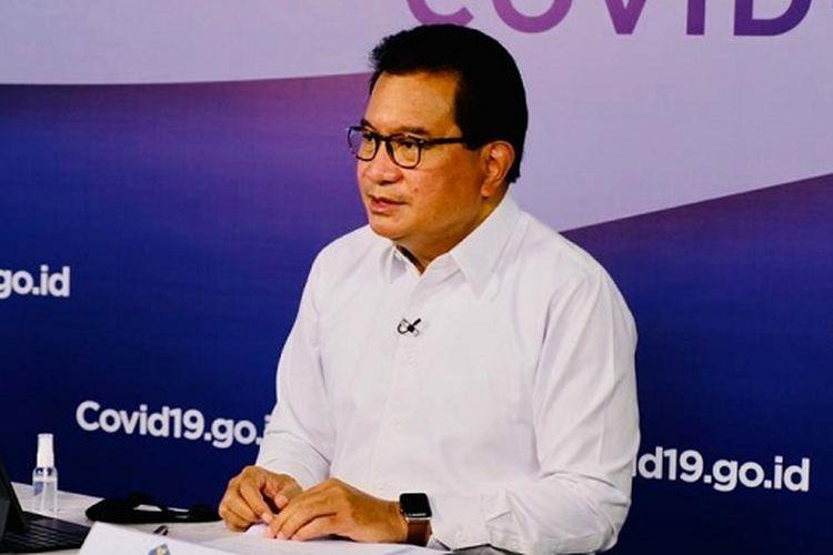 Juru Bicara Satgas Penanganan Covid-19 Wiku Adisasmito, saat memberi keterangan pers mengenai perkembangan penanganan Covid-19, yang disiarkan kanal YouTube BNPB, Kamis (5/11/2020).