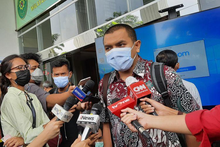 Aziz Yanuar saat di Pengadilan Negeri Jakarta Timur, Rabu (28/4/2021).