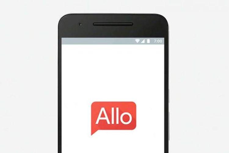 Ilustrasi aplikasi Google Allo