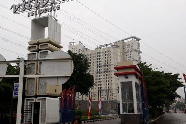 Apartemen Vittoria Residence, Rawa Buaya, Cengkareng, Jakarta Barat pada Senin (21/1/2019)
