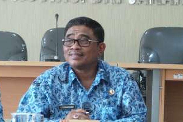 Pelaksana Tugas (Plt) Gubernur DKI Jakarta Sumarsono saat melakukan kunjungan kerja ke Komisi Pemilihan Umum (KPU) DKI Jakarta, Jumat (28/10/2016).
