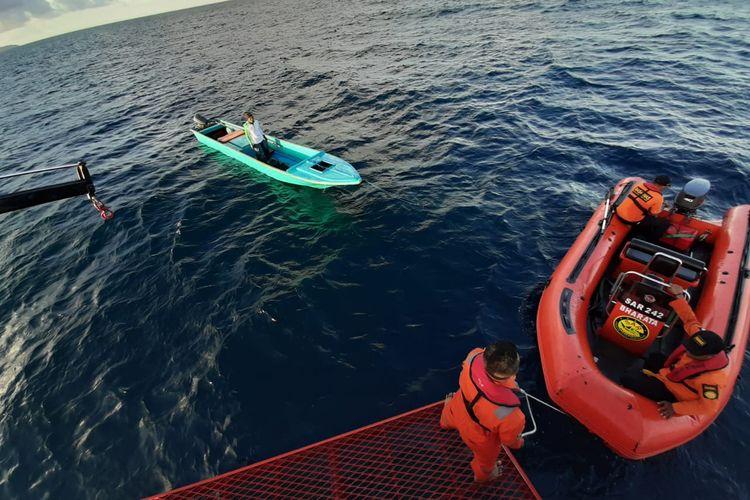 Kopas Regil (40) nelayan yang hilang di perairan Maluku Tenggara ditemukan selamat oleh tim SAR, Kamis (30/5/2019)