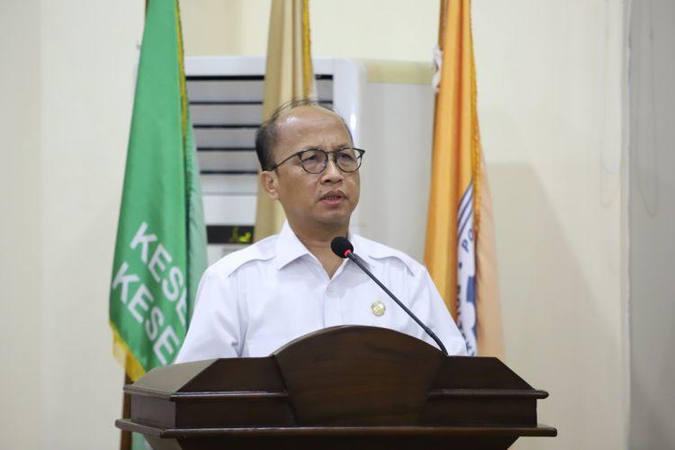 Sekretaris Jenderal Kemnaker Anwar Sanusi saat membuka Pengenalan Kehidupan Kampus Mahasiswa Baru (PKKMB) tahun akademik 2020/2021 yang digelar secara online, Rabu (14/10/2020).
