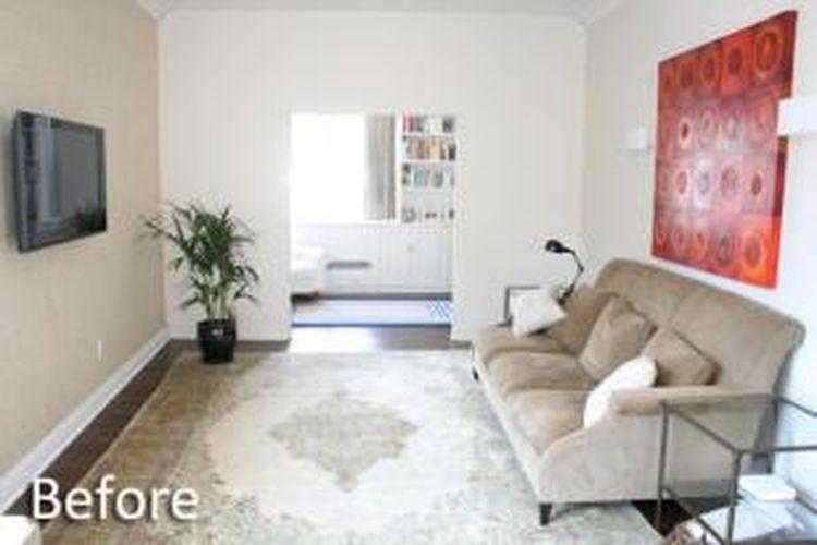 Desainer dan ahli penataan rumah Cathy Hobbs mendekor ulang interior sebuah ruangan tanpa menyingkirkan furnitur lama. Hobbs membuat ruangan yang terkesan kosong jadi terasa hangat.