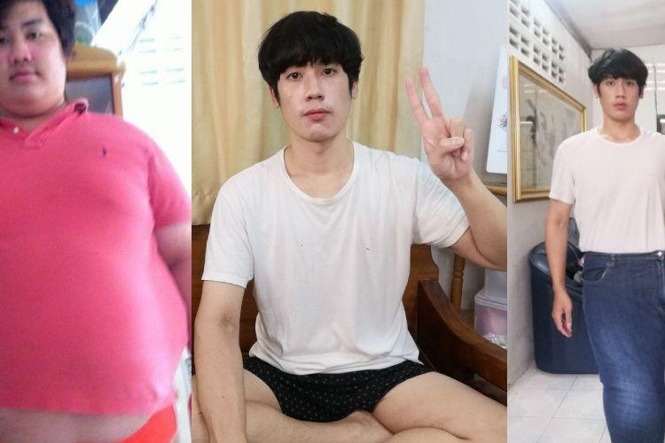 Nes Chedtragull, seorang pria asal Thailand, membagikan momen dirinya berhasil menurunkan berat badan dari 156 kg ke 75 kg hanya dalam waktu setahun.