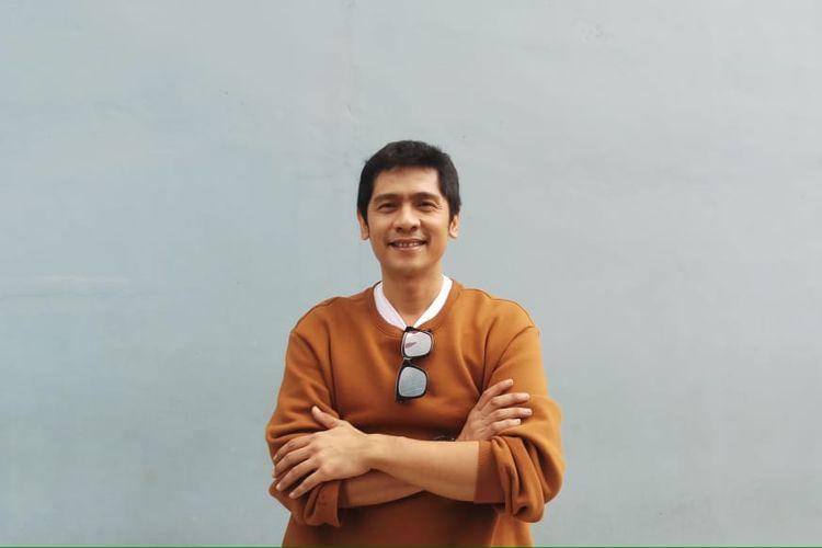 Pembawa acara Adi Nugroho saat ditemui di kawasan Tendean, Jakarta Selatan, Rabu (4/3/2020).