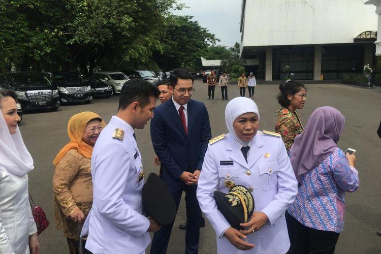 Gubernur dan Wakil Gubernur terpilih Jawa Timur Khofifah Indar Parawansa dan Emil Dardak.