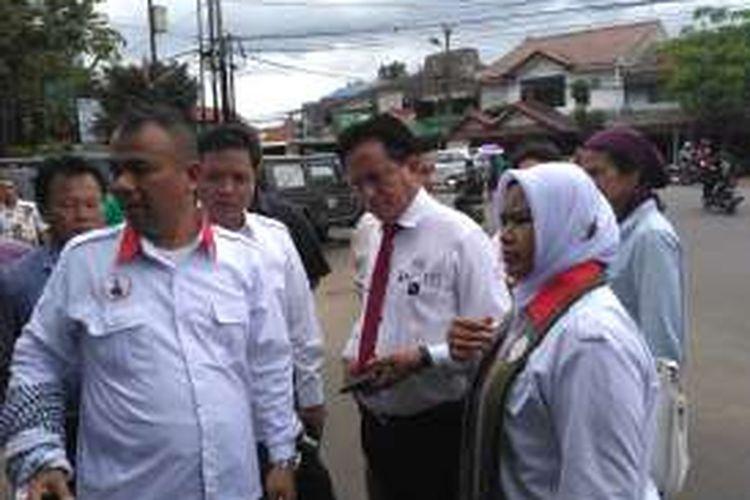 Pakar Hukum Tata Negara Yusril Ihza Mahendra di Markas Kamando (Mako) Brimob, Depok, Jumat (2/12/2016)