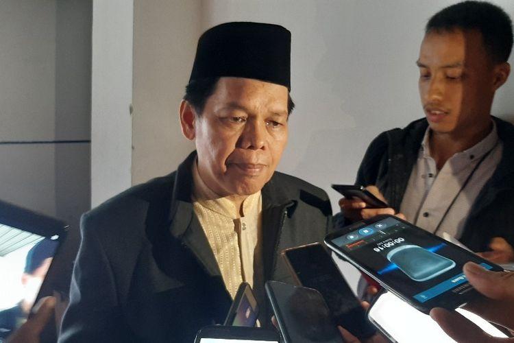 Wakil Sekretaris Jenderal Bidang Informasi dan MUI Amirsyah Tambunan usai sebuah diskusi di Gedunf Kemenkominfo, Jumat (22/11/2019).