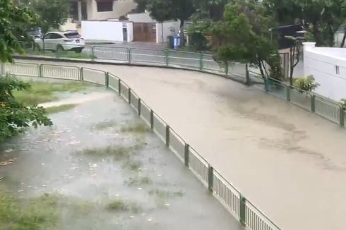 Diguyur Hujan Deras Pagi Hari, Banjir Bandang Rendam Singapura