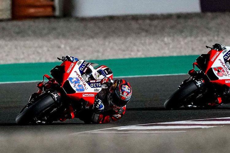 Jorge Martin saat balapan di MotoGP Doha 2021