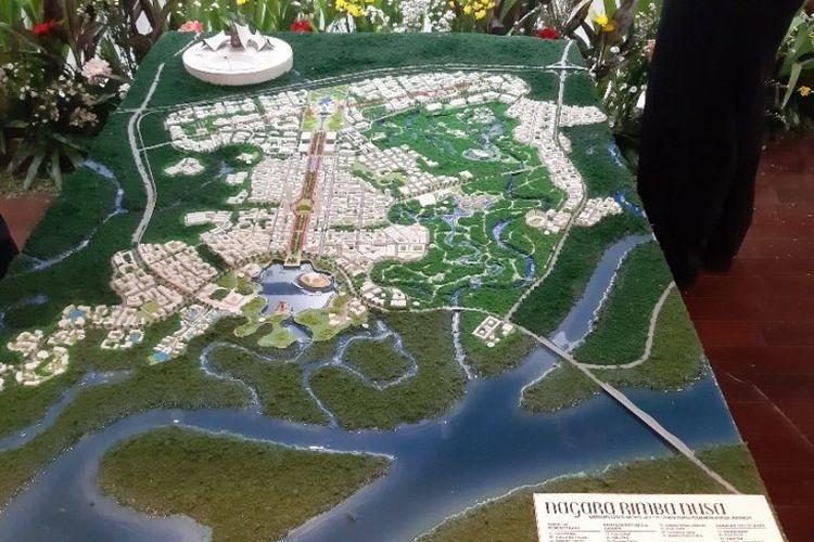 Gagasan desain Nagara Rimba Nusa yang ditetapkan sebagai pemenang terbaik pertama Sayembara Gagasan Desain Kawasan Ibukota baru Negara atau IKN oleh Kementerian PUPR di Jakarta.