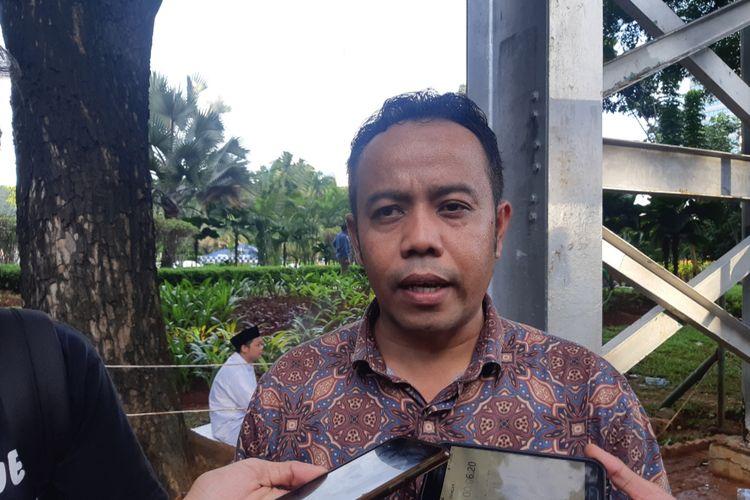 Komisioner KPAI Jasra Putra di Silang Monas, Jalan Medan Merdeka Barat, Jakarta Pusat, Jumat (21/2/2020)