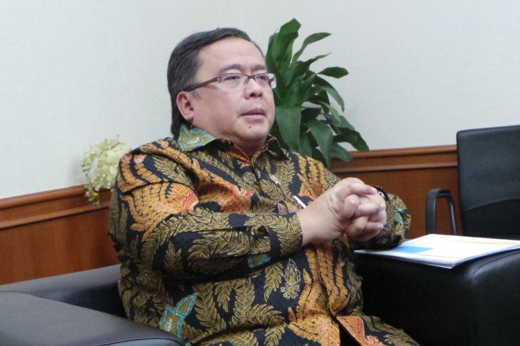 Menteri Perencanaan Pembangunan Nasional atau Kepala Bappenas Bambang Brodjonegoro, saat wawancara bersama Kompas.com, Rabu (10/5/2017).