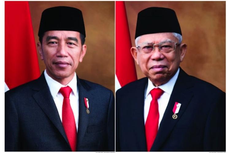 Foto resmi Presiden dan Wakil Presiden 2019-2024.