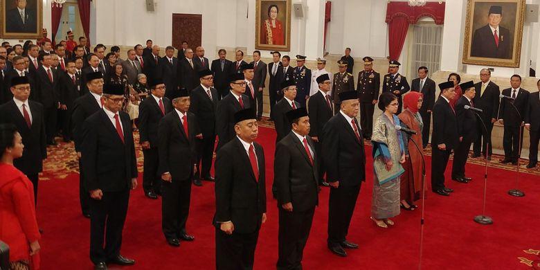 17 Duta Besar yang dilantik Presiden Jokowi di Istana Negara, Jakarta, Selasa (20/2/2018).
