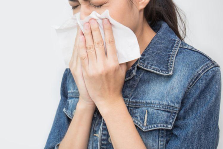 Ilustrasi flu. Flu menjadi salah satu penyebab hidung mampet.