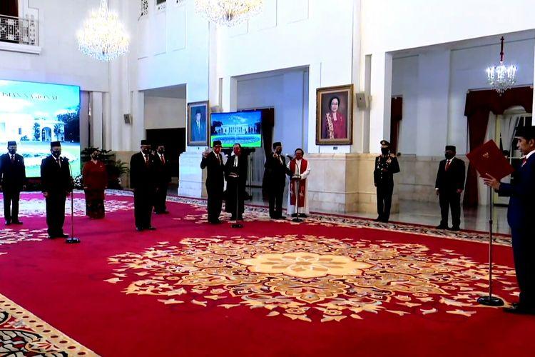 Presiden Jokowi melantik anggota Kompolnas 2020-2024, Rabu (19/8/2020).