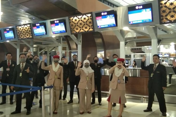 Penerbangan Emirates terakhir dari Jakarta
