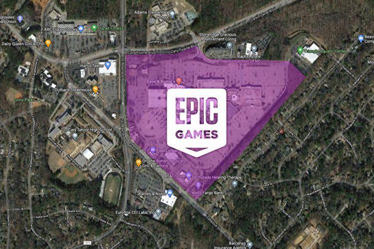 Perkiraan luas area kantor baru Epic Games