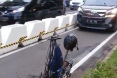 Ketika Jalur Khusus Sepeda Tetap Diserobot Mobil di Jalan Jenderal Sudirman. . .