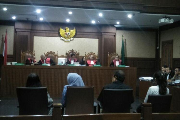 Sidang Pemeriksaan Saksi dugaan Suap Eks Direktur Utama Garuda Indonesia, Emirsyah Satar di Pengadilan Negeri Jakarta Pusat, Kamis (6/2/2020)